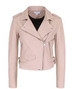 Iro | Укороченная Кожаная Куртка С Косой Молнией