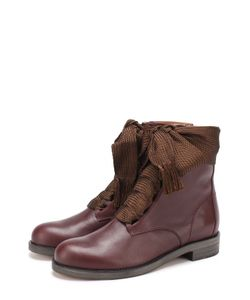 Chloe | Высокие Кожаные Ботинки Harper На Шнуровке