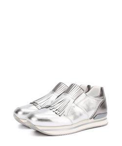 Hogan | Кроссовки Из Металлизированной Кожи С Бахромой