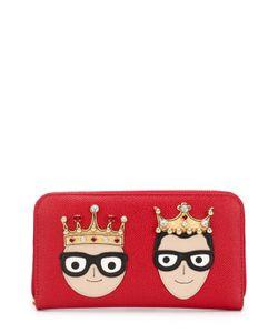Dolce & Gabbana | Кожаный Кошелек На Молнии С Аппликацией