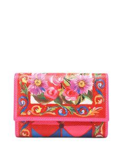 Dolce & Gabbana | Кожаное Портмоне С Принтом