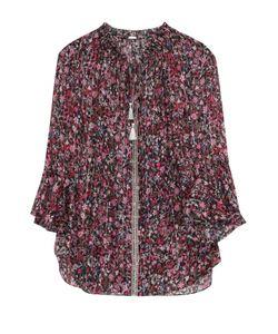 Elie Tahari | Шелковая Блуза На Кулиске С Цветочным Принтом