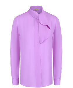 Emilio Pucci | Шелковая Блуза Прямого Кроя С Воротником Аскот