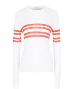 MSGM | Пуловер Фактурной Вязки В Полоску