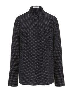 BOSS | Шелковая Блуза Прямого Кроя С Горох