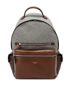 Bertoni | Текстильный Рюкзак С Отделкой Из Натуральной Кожи