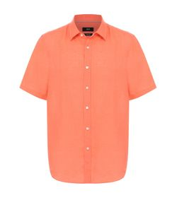 BOSS | Льняная Рубашка С Короткими Рукавами