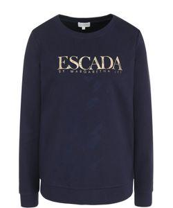 Escada Sport | Свитшот Прямого Кроя С Контрастной Надписью