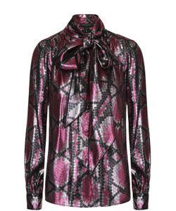 Marc Jacobs | Шелковая Блуза Прямого Кроя С Воротником Аскот
