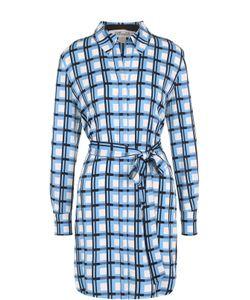 Diane Von Furstenberg | Шелковое Платье-Рубашка С Принтом И Поясом