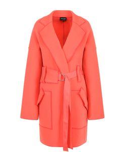 Giorgio Armani | Шерстяное Пальто Со Спущенным Рукавом И Поясом