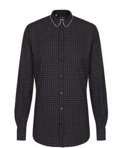 Dolce & Gabbana | Рубашка Из Смеси Хлопка И Шелка С Принтом