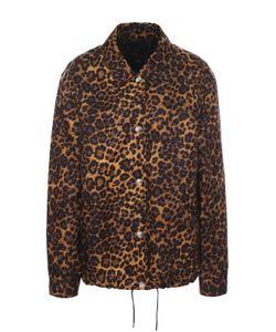 Alexander Wang   Куртка С Отложным Воротником И Леопардовым Принтом