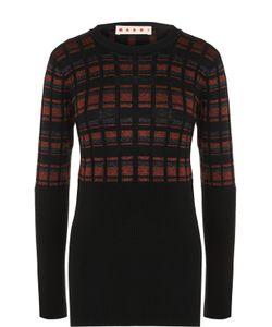 Marni | Облегающий Пуловер С Круглым Вырезом