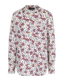 Isabel Marant | Шелковая Блуза С Воротником-Стойкой И Цветочным Принтом