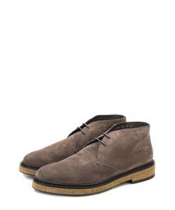 Santoni | Замшевые Ботинки С Внутренней Меховой Отделкой