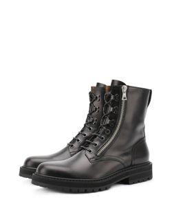 Dries Van Noten   Высокие Кожаные Ботинки На Шнуровке