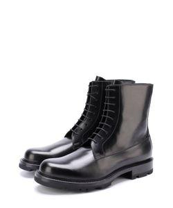 Jil Sander | Высокие Кожаные Ботинки На Шнуровке