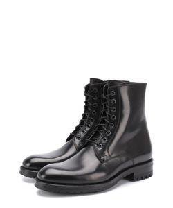 Brioni | Высокие Кожаные Ботинки На Шнуровке