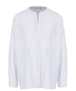 Vince | Хлопковая Блуза Свободного Кроя В Контрастную Полоску