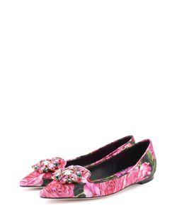 Dolce & Gabbana | Балетки Bellucci С Цветочным Принтом И Брошью