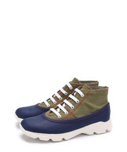 Marni | Текстильные Ботинки С Отделкой Из Резины