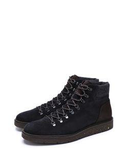 Hogan | Высокие Замшевые Ботинки На Шнуровке