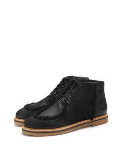O.X.S. | Кожаные Ботинки На Шнуровке С Внутренней Меховой Отделкой .