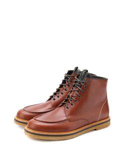 O.X.S. | Высокие Кожаные Ботинки На Шнуровке .