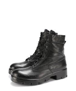OXS RUBBER SOUL | Кожаные Ботинки С Эффектом Состаривания На Шнуровке