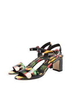 Dolce & Gabbana | Комбинированные Босоножки С Принтом На Устойчивом Каблуке