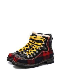 Dsquared2 | Комбинированные Ботинки С Принтом В Шотландскую Клетку