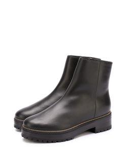 Sergio Rossi | Кожаные Ботинки С Декорированным Рантом