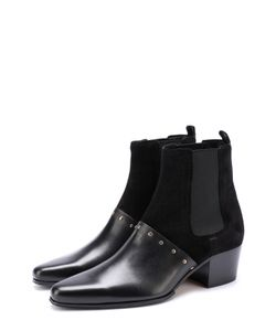 Balmain | Комбинированные Ботинки С Заклепками