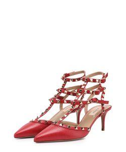 Valentino | Кожаные Туфли Rockstud С Ремешками На Шпильке