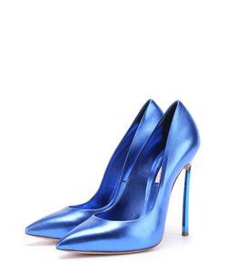 Casadei | Туфли Из Металлизированной Кожи На Шпильке Blade