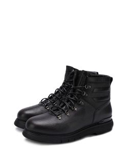 W.Gibbs | Высокие Кожаные Ботинки На Шнуровке С Внутренней Меховой Отделкой