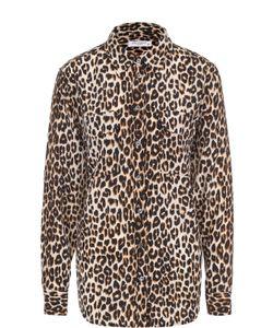 Equipment | Шелковая Блуза Прямого Кроя С Леопардовым Принтом