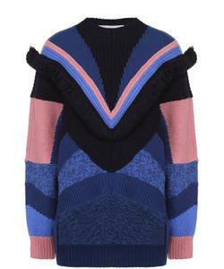 Stella Mccartney | Пуловер Асимметричного Кроя С Контрастной Отделкой