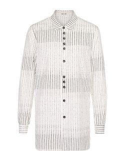 Damir Doma | Удлиненная Хлопковая Рубашка С Принтом