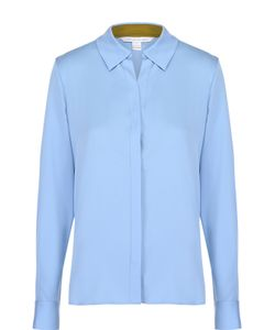 Diane Von Furstenberg | Шелковая Блуза Прямого Кроя С Накладным Карманом