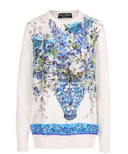 Dolce & Gabbana | Шелковый Пуловер С Ярким Принтом