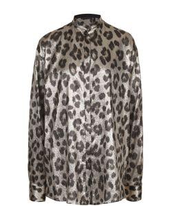 Haider Ackermann | Шелковая Блуза Свободного Кроя С Леопардовым Принтом