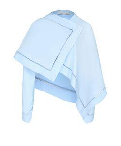J.W. Anderson   Хлопковая Блуза Асимметричного Кроя С Перфорацией