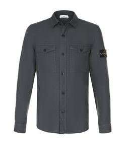 Stone Island   Льняная Рубашка С Воротником Кент