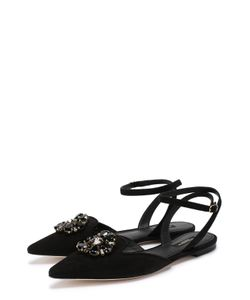 Dolce & Gabbana | Замшевые Балетки Bellucci С Кристаллами