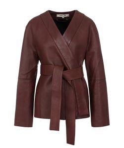 Diane Von Furstenberg | Однотонная Кожаная Куртка С Поясом