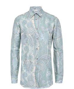 Brioni | Рубашка Из Смеси Льна И Хлопка С Принтом