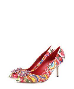 Dolce & Gabbana | Текстильные Туфли Bellucci С Брошью