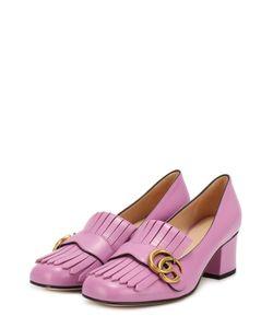 Gucci | Кожаные Туфли Marmont С Пряжкой